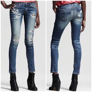 Rag & Bone Skinny Jeans rips and repair Distressed